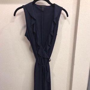 Navy J. Crew Wrap Dress, Size XS